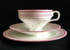Collectable Royal Doulton Tea Trio Cup Saucer & Side Plate Corset Shape Pink