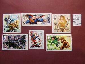 GB~2021~DC Collection~Commemorative Stamp Set~ex M/S~S/A~Unmounted Mint~UK