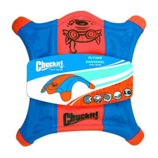 Chuckit Flying Squirrel - Durable  Fabric Fetch Floating Dog Disc Toy  - Medium