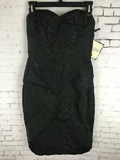 JEAN PAUL GAULTIER  MINI DRESS STRAPLESS SIZE 7 WOMEN'S BLACK COCKTAIL (A4)