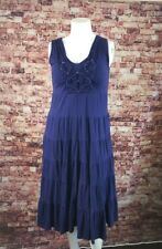 Reba Blue  Boho Peasant Gypsy Dress Size L