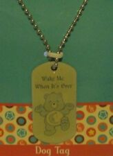 """Care Bears BEDTIME Bear 28"""" DOG Tag Necklace """"Wake Me When It's Over"""""""