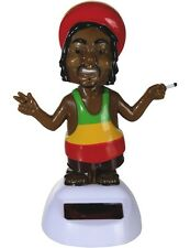 Solarfigur Figur Solar RASTAFARI Dekofigur Tanzend Wackel-Figur Rasta Jamaika