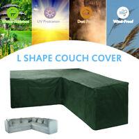 Couverture meubles jardin en rotin coin en forme L canapé protecteur extérieu SH