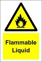 2 x FLAMMABLE PETROL HAZARD DIAMOND LABELS STICKERS 100x100mm FREE P/&P