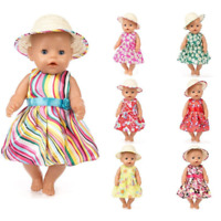For 43cm 17inch Born Baby Dolls Clothes Lastic Shirt Lace Dress For Baby Doll
