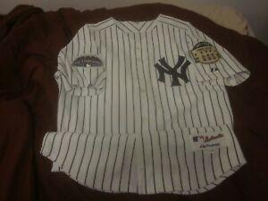 2008 New York Yankees Home Pinstripe Jersey Last Season Yankee Stadium