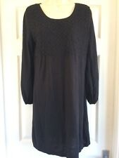 MONSOON - BLACK  JUMPER DRESS - SIZE 12 14 M