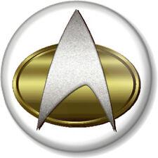 """Star Trek Insignia 1"""" 25mm Pin Button Badge Geek Nerd Trekkie Crest Symbol Scifi"""