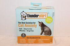 Thundershirt Cat Anxiety Air Solid Gray Sz Med 9-13 Lbs & Lg >13 Calming Wrap