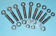 Norton Dominator Stainless Barrel Studs + nut + washers
