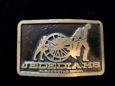 Vintage Solid BRASS BELT BUCKLE by DynaBuckle Utah, *Jedediahs famous dining