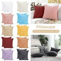 2x Large Plain Cushion Cover Super Soft Chenille Stripe Jumbo Cord in 12 Color