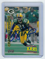 1997 PACKERS Craig Newsome signed card PLAYOFF #10 AUTO Autographed Green Bay