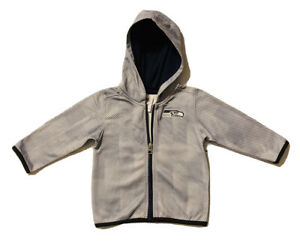 New NFL Seattle Seahawks Boys Toddlers Gray Lightweight Hoodie Jacket Size 18M