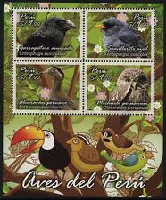 Peru 2014 Vögel Eule Birds Owl Uccelli Oiseaux Block Postfrisch MNH