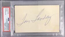 Tom Landry Signed Index Card NFL Football HOF Autograph Dallas Cowboys PSA/DNA