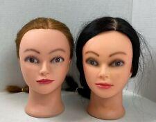 "Cosmetology Mannequin Head Hair Hairdresser Training Rubber 10"" Tall #21K"