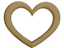 MDF Heart Wooden Shapes 7.5cm 75mm High 3mm Thick Custom Cut x 10 pieces 034
