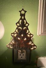 LENOX For the Holidays Christmas Lites Cream Tree Night Light Ceramic