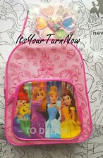 DISNEY PRINCESS 20-pc FUNPACK +Coloring Pages, Watercolors & Brush KIDS Backpack