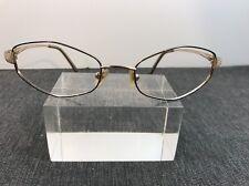 Liz Claiborne Authentic 130 L264 FO8 51/17 Gold Eyeglasses 3855