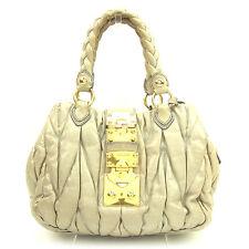 Auth MiuMiu handbag Materasse ladies used T1044