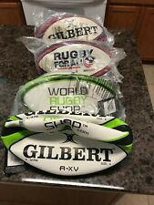 4 New Gilbert Rugby Balls Training -A -Xv Size 4