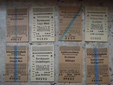 alte Fahrscheine ticket deutsch Reichsbahn Stuttg.Bernhausen usw Reichsmark 40er