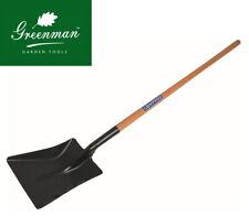 "Oval Shaft Shovel High Quality Greenman Square Point 48"" Ash Handled No.2 4ft"