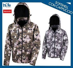 Giacca Softshell Jacket Uomo Donna Abbigliamento Softair da Lavoro Pesca Caccia