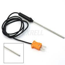 Sonda Termocoppia K Tipo Alta Temperatura Sensore Misuratore 100cm Acciaio Inox