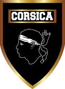 STICKERS Autocollant CORSICA, patch, écusson pare-brise voiture produit CORSE.