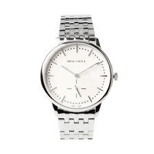 Ultra Thin 9MM Seagull Small Second Hand Mechanical Hand Wind Men's Dress Watch