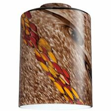 Westinghouse 8140000 - 2-1/4-Inch Handblown Wildfire Glass Cylinder Shade