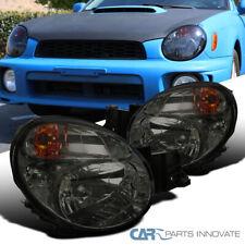 For 02-03 Subaru Impreza S202 WRX STI Smoke Tinted Headlights Headlamps Pair