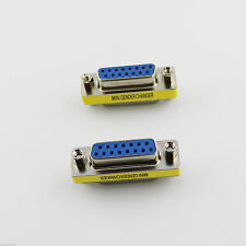 VGA/SVGA DB15 D-SUB 15 Pin 2 Rows Female To Female Mini Gender Changer Adapter