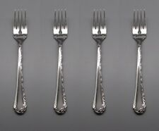 Oneida Stainless Flatware  BELLE ROSE Salad Forks * USA - SET OF FOUR