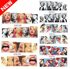 Hot Marilyn Monroe Nail Art Nail Decals Water Transfer Stickers