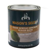 Mason's Select - Clear Acrylic Concrete Sealer 6510 Satin 31 Oz
