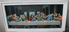 Vintage PBN Framed The Last Supper Paint By Number 27.75 x 14 In