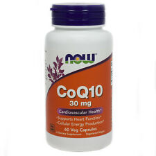 COQ10 Coenzyme Q10 30 Mg By Now Foods - 60 Vegetarian Capsules