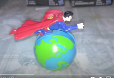 Rare Superman Carls Jr DC Comics Action Figure World Unique Fast Food Giveaway