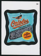 2016 TOPPS WACKY PACKAGES MLB - BALTIMORE ORIOLES SUNFLOWER SEEDS - STICKER #34