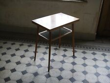 Retro TV table from 60's 70's simple practical design Drevopodnik Holesov