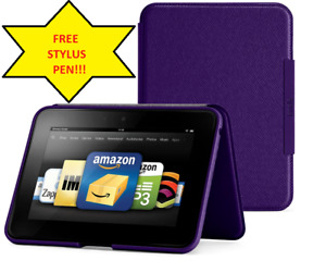 """Amazon Kindle Fire HD 7"""" (Previous Generation) Standing Leather Case, Royal Purp"""