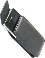 Samsung Galaxy Y Duos S6102 Universal Vertical Slip-in Leather Pouch & Belt Clip