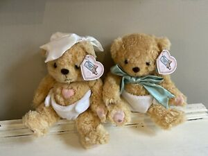 Cherished Teddies Baby TEDDY BEAR Plush STUFFED ANIMAL Diaper Twin Boy Girl Gift