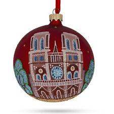 Notre-Dame De Paris, France Glass Christmas Ornament 4 Inches