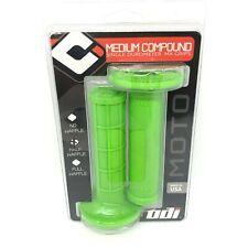 ODI MX Grips Half Waffle Grips Lime Green Medium Compound Single Durometer